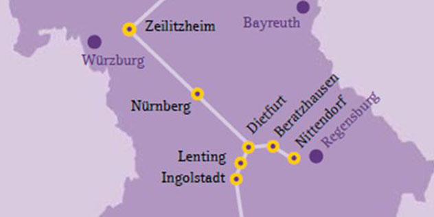 Karte von Bayern,© ELKB / fgs