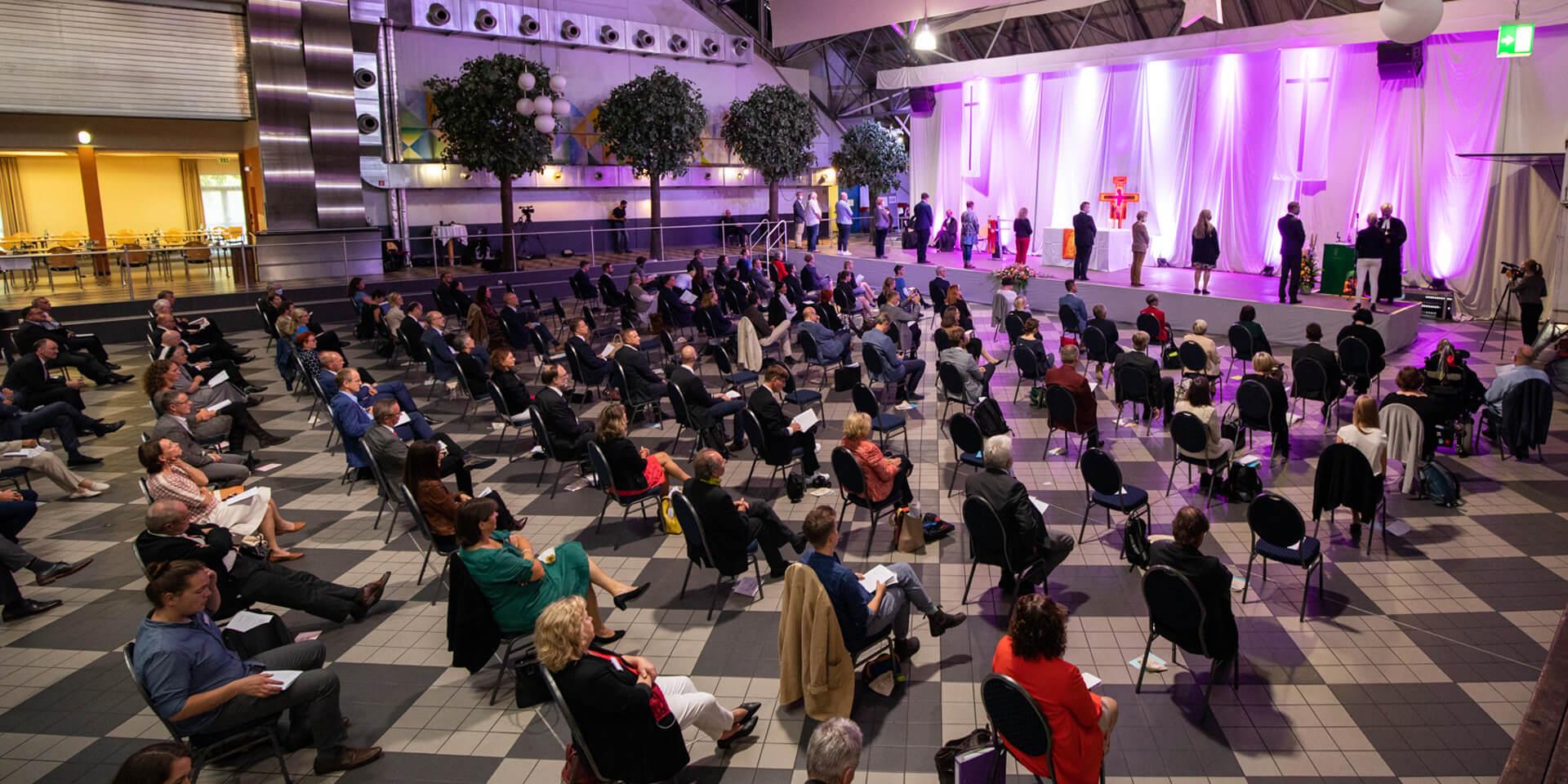 Eröffnungsgottesdienst bei konstituierender Tagung in Geiselwind