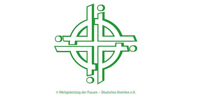 Logo Weltgebetstag deutsch grün,© Weltgebetstag